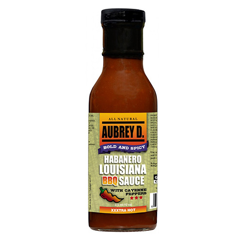 Aubrey D. Habanero Lousiana BBQ Sauce with Cayenne Peppers 375ml