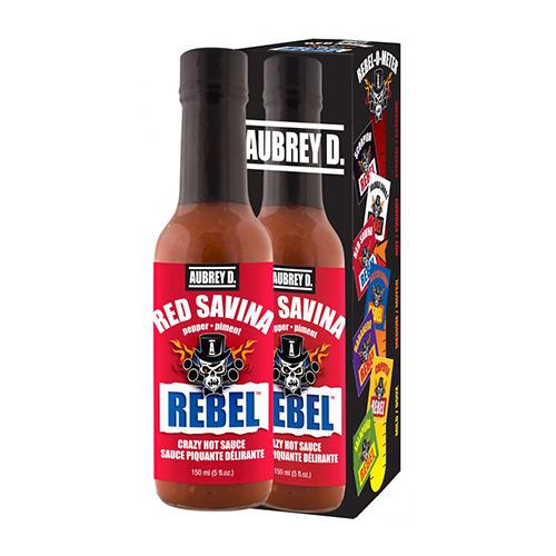 Aubrey D. Rebel RED SAVINA Hot Sauce 150ml