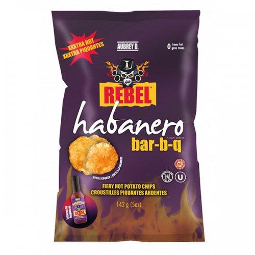 Aubrey D. Rebel HABANERO BAR-B-Q Potato Chips 142g