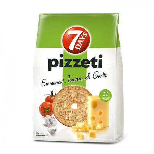 7Days Pizzeti Cheese, Tomato and Garlic 80g 5201360624560