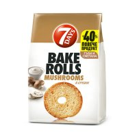 7Days Bake Rolls Mushrooms and Cream 112g EAN 5201360609802