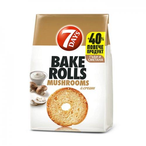 7Days Bake Rolls Mushrooms and Cream 112g 5201360609802