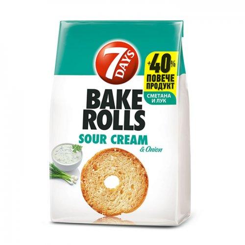 7Days Bake Rolls Onion and Cream 112g 5201360609505