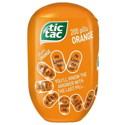 Tic Tac Bottle Orange