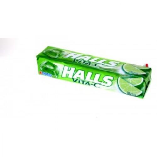 HALLS Lime & Vitamin C Drops