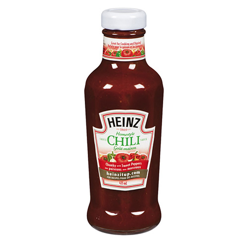 HEINZ Homestyle CHILI SAUCE Chunky with Sweet Peppers 455ml
