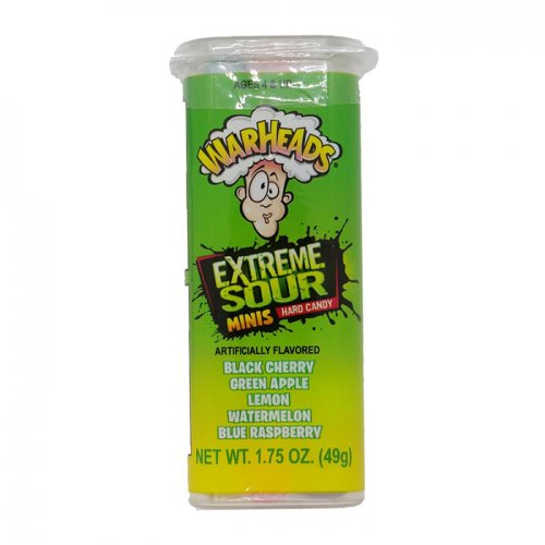 WARHEADS Extreme Sour Hard Candy Minis 49.75g UPC 032134227008