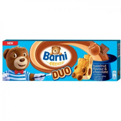 Barni Duo Hazelnut and Chocolate 150g 7622210935823