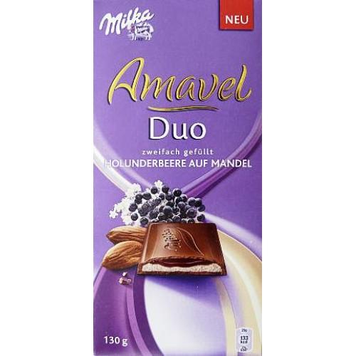 Milka Amavel Duo Blackberry & Almonds 130g