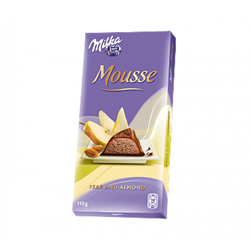 Milka Mousse Pear and Almond 110g