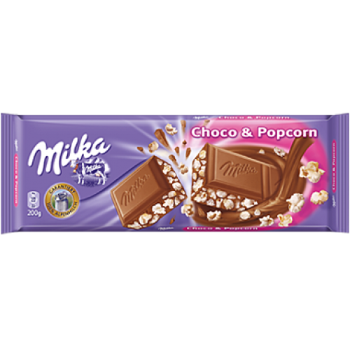 Milka Choco & Popcorn Chocolate 250g