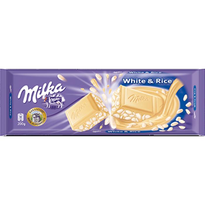 Milka White Amp Rice