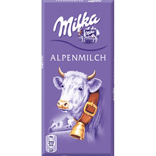Milka Alpine Milk Chocolate 40g