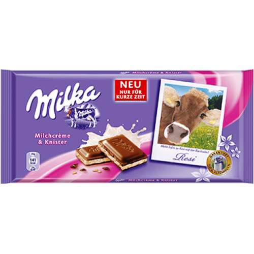 Milka Milk Cream and Popping Candy / Cow Resi 100g