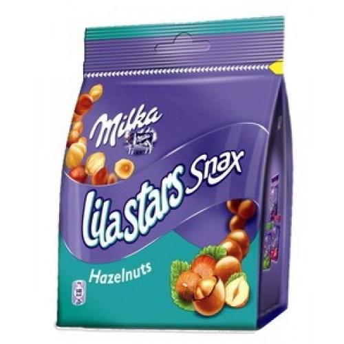 Milka Lila Stars Snax Hazelnuts