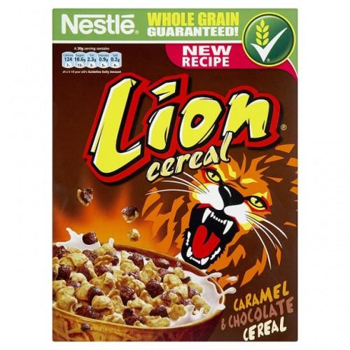 nestle lion cereal caramel amp choco 400g