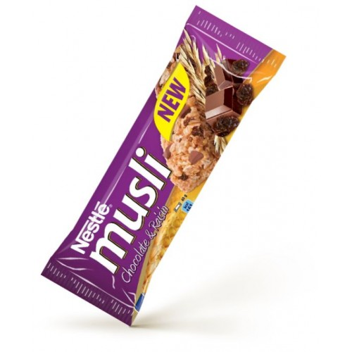 Nestle MUSLI Cereal Bar Chocolate & Raisins 40g