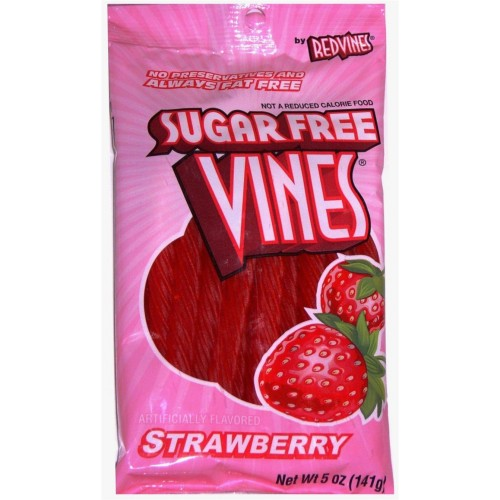 American Licorice Sugar Free Strawberry Twists 5 Oz Bag